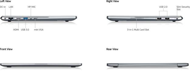 USB Ports tampak kiri pada Samsung Ultrabook Series