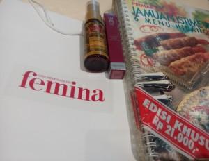 Goodie Bag Nobar Jingga dari Femina (foto: dok.pribadi)
