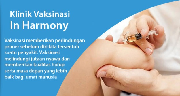 Mencegah lebih baik daripada mengobati, mendapatkan vaksin adalah salah satu tindakan pencegahan terhadap penyakit. (foto sumber: inharmonyclinic.com)