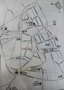 Peta kota Cirebon yang saya andalkan dari kamar hotel :D