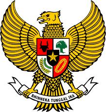 Semboyan Bhineka Tunggal Ika tercantum pada lambang negara Indonesia, Garuda Pancasila. (foto sumber: wikipedia.org)
