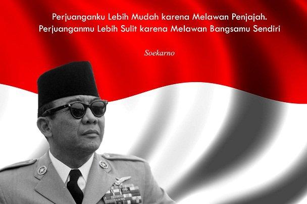 Bung Karno menyadari bahwa keberagaman di Indonesia dapat mengarah kepada perpecahan atau sebaliknya, persatuan. (foto sumber: lensaindonesia.com)