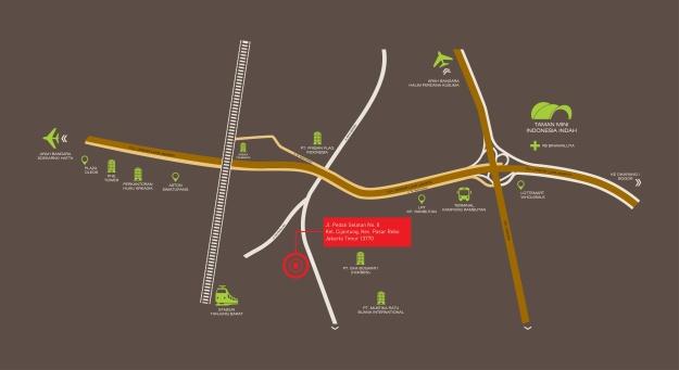 Peta rute menuju Prajawangsa City di daerah Cijantung, Jakarta Timur. (foto sumber: prajawangsacity.id)