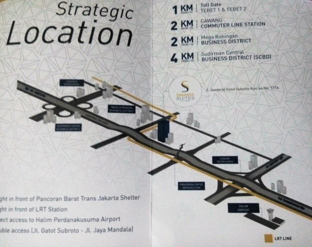 peta rute menuju Synthesis Square Gatot Subroto (foto sumber: dokumen pribadi).