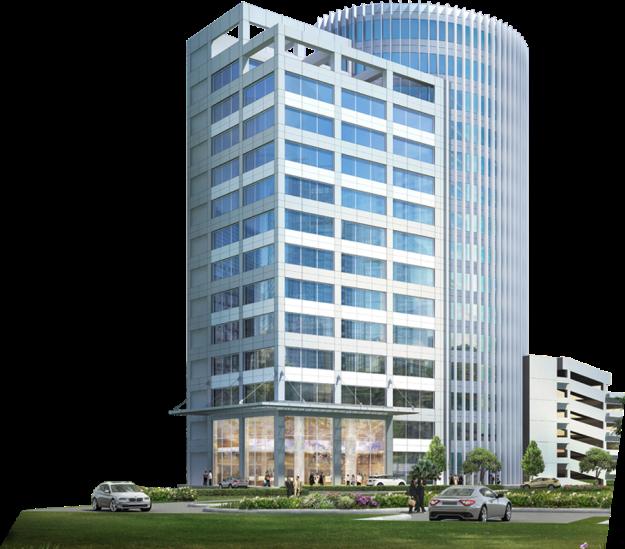 Synthesis Square di kawasan Gatot Subroto: hunian apartemen untuk corporate dan gedung perkantoran dilengkapi convention hall. (foto sumber: http://www.synthesis-square.id/)
