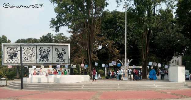 Taman Pandang Istana, disebut juga Taman Aspirasi untuk menampung aspirasi warga Jakarta. (foto: dok.pribadi)