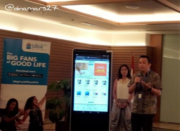 """Bapak Lay Ridwan Gautama selaku Head of Trade Partnership Blibli.com, """"Paket kesehatan ini lengkap karena mencakup mulai medical check up, deteksi jantung serta paket persalinan."""" (foto: dokpri)"""