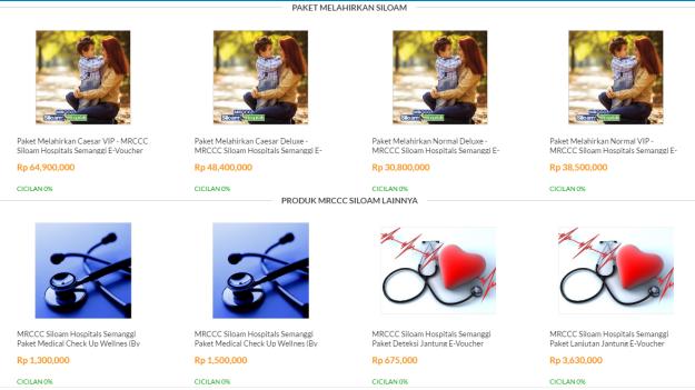 Berbagai jenis Maternity Package dari Blibli.com yang dapat dipilih oleh calon ibu sebelum persalinan. Info lanjut mengenai paket ini: https://www.blibli.com/promosi/siloam
