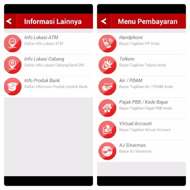 Layanan perbankan Bank DKI melalui aplikasi smartphone JakMobile. (foto: dok.pri)