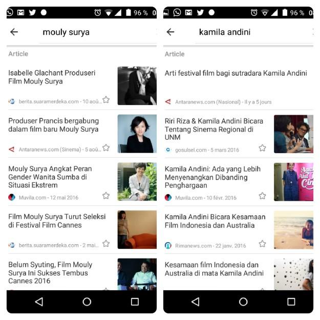 Berita teranyar tentang Kamila Andini dan Mouly Surya di Kurio, aplikasi ponsel penyedia berita-berita kredibel. (foto: dok.pri)
