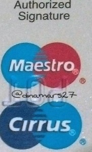 Logo Maestro Cirrus yang terdapat di balik kartu Paspor BCA sangat membantu saya melakukan transaksi tarik tunai selama berada di Eropa. (foto: dok.pri)