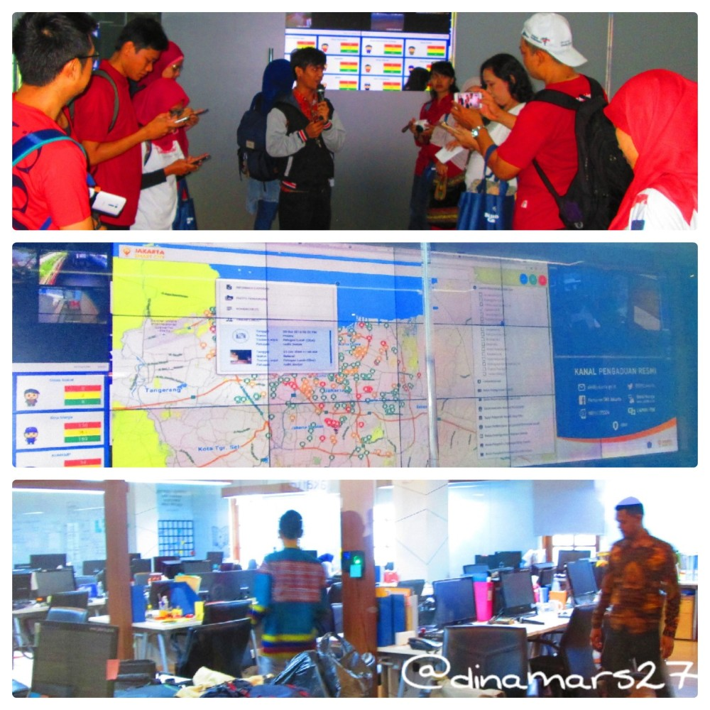 melongok 'dapur-nya Jakarta Smart City di dalam gedung B, Balaikota Jakarta. (foto: dok.pri)