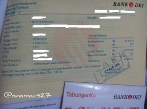 Pengalaman memanfaatkan layanan Bank DKI untuk membayar biaya retribusi tanah makam almarhumah ibu. (foto: dok.pri)