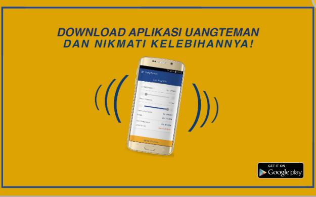 Pinjaman tunai tanpa agunan melalui UangTeman dapat juga diakses melalui aplikasi ponsel berbasis Android atau iPhone. (foto: uangteman.com)