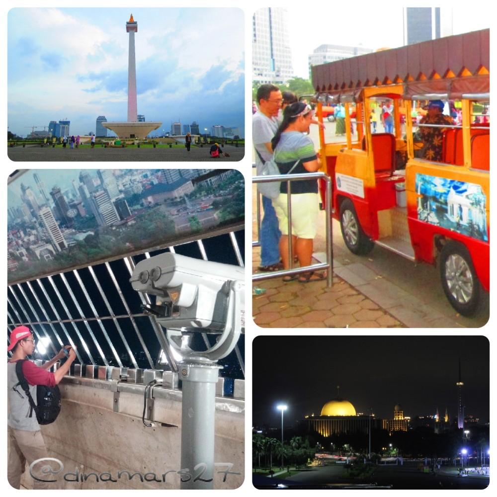 Wisata Malam Monas yang sudah dijalankan sejak April 2016, semakin banyak menarik wisatawan untuk melihat seisi kota Jakarta dari puncak Monas, terlebih di waktu malam. (foto: dok.pri)