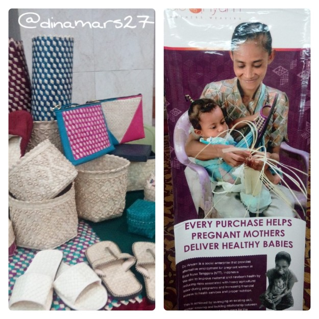 booth Duanyam menampilkan produk kerajinan tangan yang dibuat oleh ibu-ibu hamil di NTT dan hasilnya dipasok ke hotel-hotel besar serta ritel. (foto: dok.pri)