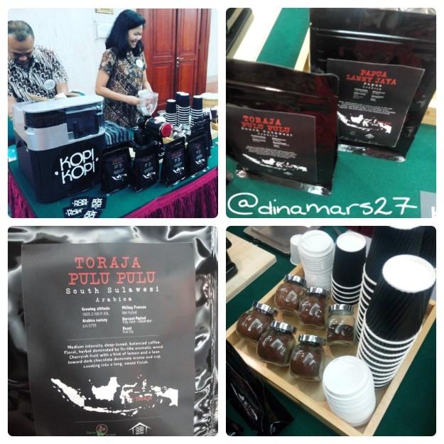 booth KopiKopi Jakarta menghadirkan biji-biji kopi terbaik produksi dalam negeri. (foto: dokpri)