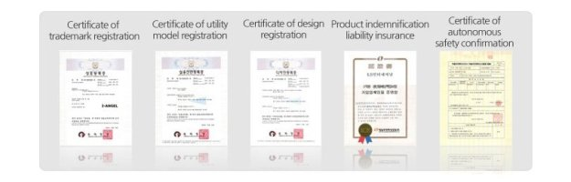 Berbagai sertifikat yang telah diperoleh I Angel baik dari Korea Selatan, Eropa maupun Amerika Serikat. (foto sumber: website I Angel USA)