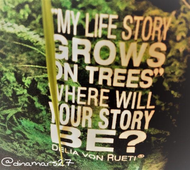 Ibu Delia von Rueti berasal dari keluarga desa di Pematang Siantar yang telah menanam dan mengelola hutan hujan tropis sejak masa kecilnya. Quote tersebut menggambarkan kisah hidup Ibu Delia. (foto: dokpri)