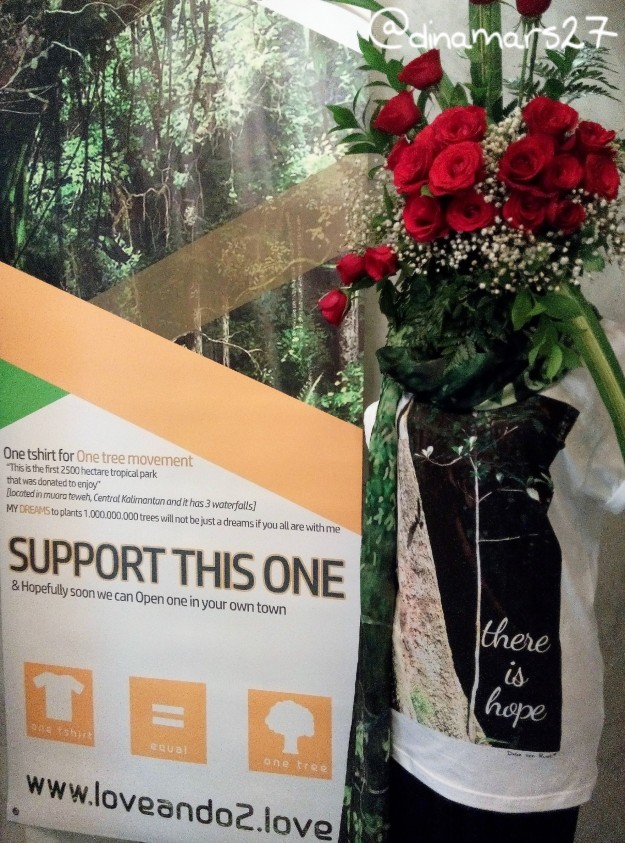 There is Hope, salah satu quote yang menggambarkan harapan Ibu Delia agar pohon-pohon di Indonesia bisa tumbuh berkembang menjadi sebuah hutan tropis yang bermanfaat bagi Indonesia. (foto: dokpri)