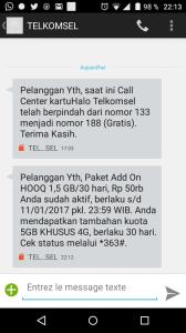 Pembelian paket HOOQ juga bisa dengan paket AddOn HOOQ dari Telkomsel untuk pelanggan Halo. (screen capture dokpri)