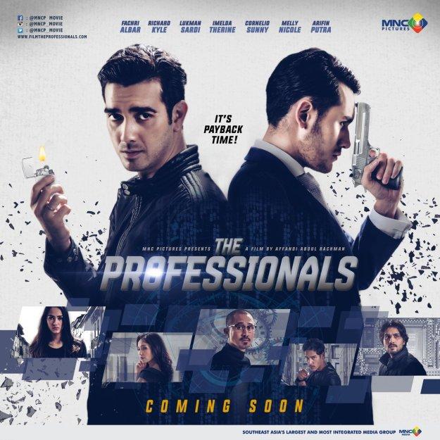 Poster film The Professionals, rencananya akan rilis di seluruh bioskop Indonesia mulai 22 Desember 2016.