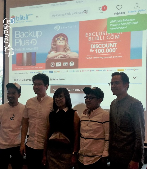 Acara BlibliFriendsMeetUp menampilkan Heret Frasthio (sutradara & fotografer), Titra Saputra Salim (Seagate), Lani Rahayu (Communication Manager Blibli.com), Jimmy Indra (sutradara & fotografer), Timothy Oroh (MC). Foto: dokpri
