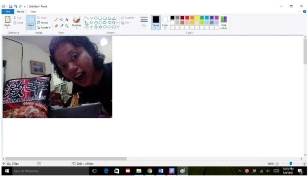 Ini contoh foto awal yang saya akan utak-atik dengan Microsoft Paint terlebih dahulu sebelum lanjut menggunakan PicsArt. (foto screenshot: dokpri)