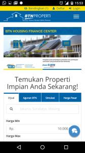 Fitur BTN Properti di mobile apps BTN Digital Solution memudahkan nasabah/non-nasabah untuk mengecek harga properti di pasaran & membuat simulasi harga. (foto: dokpri)